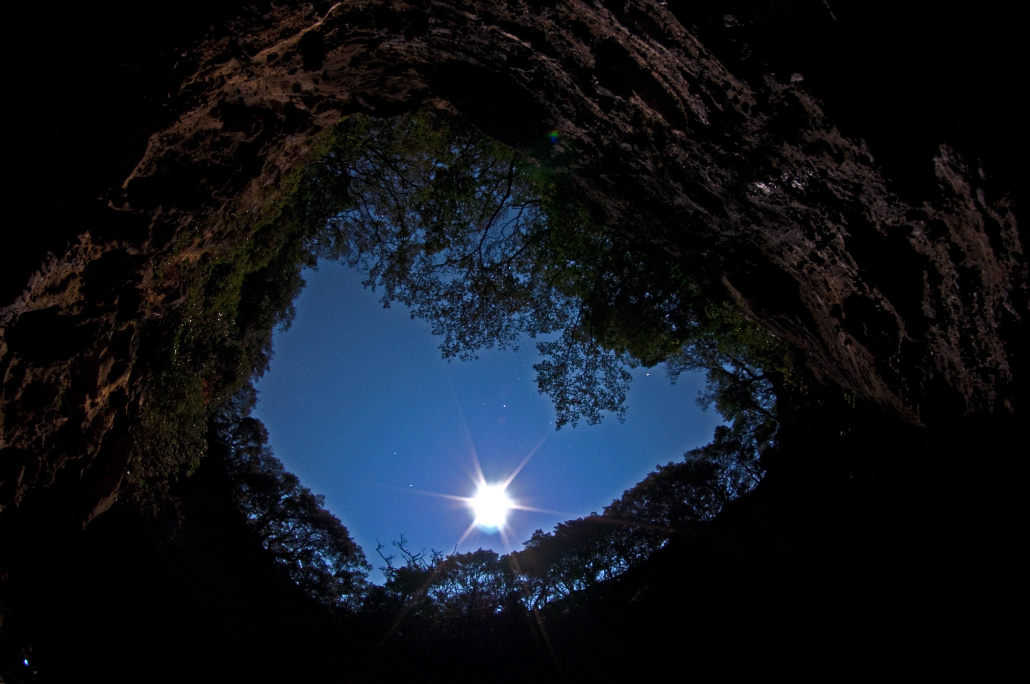 龍宮窟からの夜空 CC BY-SA