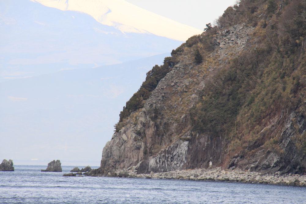 井田北 井田火山の噴出物断面 CC BY