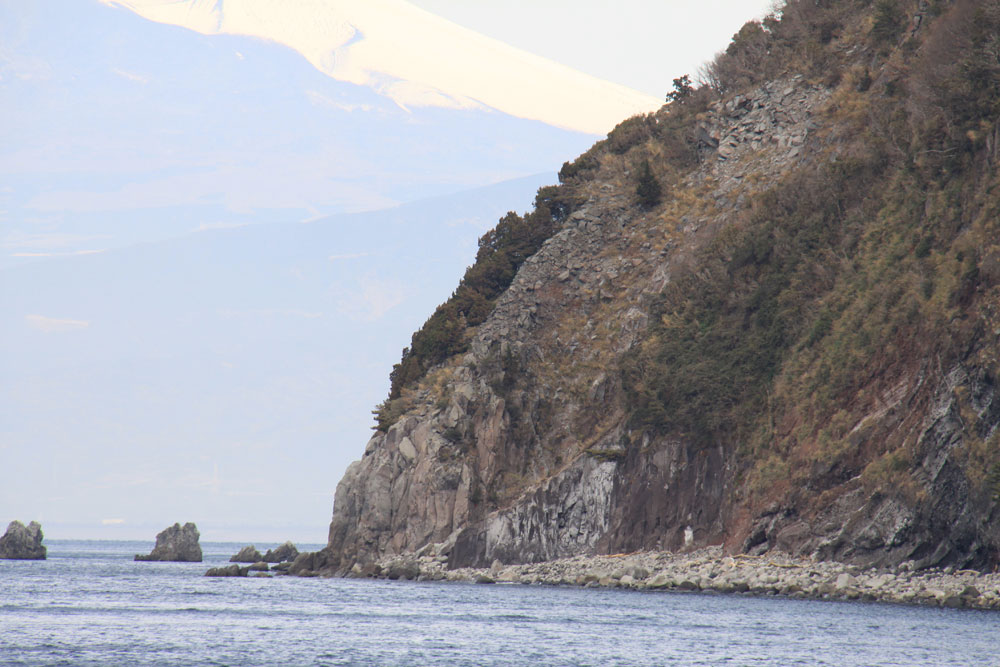 井田北 井田火山の噴出物断面 CC BY-SA