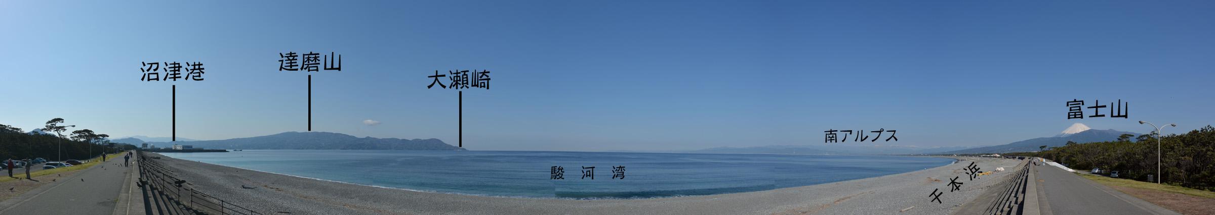 千本浜と沼津港