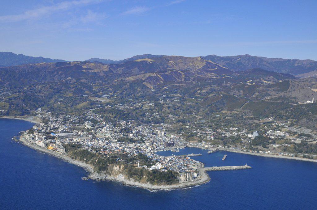 稲取岬と山焼き後の細野高原